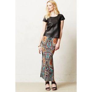 Anthropologie Maeve Moorea Maxi Skirt Size Large